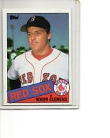 1985 Topps #181 Roger Clemens Rookie Card Boston Red Sox SEE SCANS