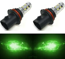 LED 50W 9004 HB1 Green Two Bulbs Head Light Low Beam Replace Off Road Show