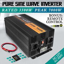 Pure Sine Wave power inverter 3500W Peak 7000W DC 12V TO AC 220V UK Stock