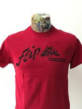 "*** NUOVO *** ""FLIP RECORD'S red t shirt Rockabilly Hillbilly 40s/50s FREEPOST"