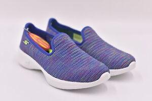 Women's Skechers Go Walk 4 - Select Slip On Loafers, Purple / Multi, 6