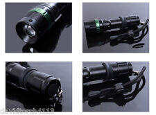 High Power Zoomable Led Flashlight Torch Rechargeable 18650 or AAA Battery Clip