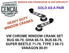 VW BUG GHIA BUS SUPER BEETLE CHROME WINDOW CRANK PAIR AC837610 1968 AND UP