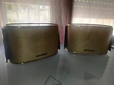 2 x SPEAKERS TELEFUNKEN 1950´S OVAL WOOD  VINTAGE RS1