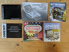 Game Boy Advance SP manual and inserts