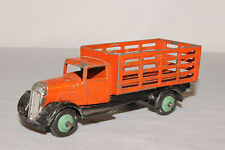 1950's Dinky #25f, Gardeners Stake Truck, Orange & Black, Green Hubs, Original