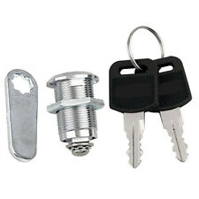 Stainless Steel Cam Lock with 2 Keys for Cabinet Mailbox Drawer Cupboard Locker,