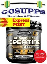 MuscleTech Platinum 100% Creatine 400 Grams 80 Serves Unflavored Ultra Pure