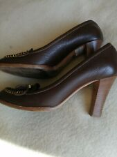 LADIES VINTAGE BALLY SHOES RRP	 €220. SIZE  EU 38. UK 5 1/2  BROWN  LEATHER