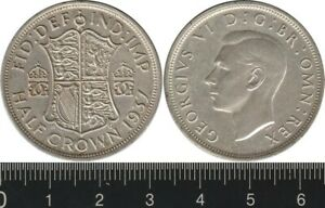 Great Britain: 1937 Half Crown King George VI silver KGVI 2/6