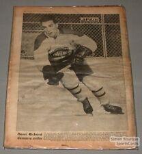 1963 Henri Richard Canadiens La Patrie Printed Photo