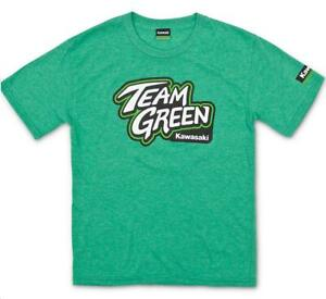 Kawasaki Team Green Youth T-Shirts in Green, All sizes