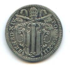 VATICAN BENOIT XIV (1740-1758) GROSSO 1750 AN XII KM 15L