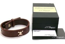 ST Dupont Pirates of the Caribbean Line D Leather/Yellow Gold Bracelet 003201PC