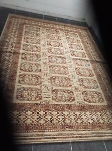 TURKMAN, 8' x 6', EX. LARGE,  BRAND NEW,  PURE NEW ZEALAND WOOL...FREE DELIVERY.