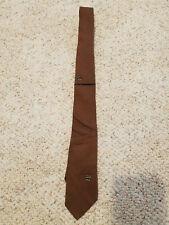 Vintage Beau Bremmell Brown Men's Tie w Black & White Geometric Accents