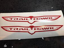 "X2 14"" Jeep Trail Hawk Vinyl Decal Stickers Grand Cherokee Cherokee 4x4 Offroad"