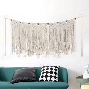 Bohemian Macrame Handmade Woven Wall Hanging Tapestry Backdrop Art Wall Decor