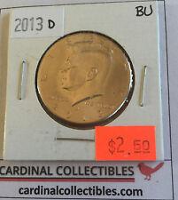 2013 US Kennedy D Half Dollar in Brilliant Uncirculated (BU) Condition