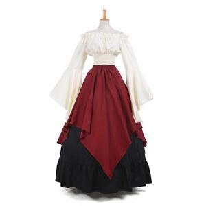 Women Medieval Dress Renaissance Renisaunce Costume Off Shoulder Wench Tavern