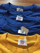 Lot 4 Vintage Reach Blank 50/50% Cotton/Poly Soft T Shirt. Size L Deadstock