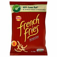 Walkers French Fries Worcester Sauce 6 x 18g - Sold Worldwide From UK