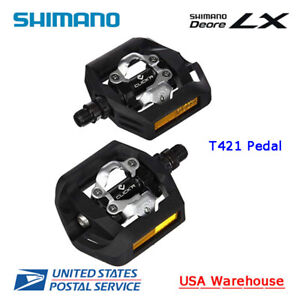 Shimano Deore LX PD-T421 SPD Aluminum Pedal with SH56 cleats Black