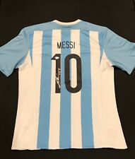 AUTHENTIC Lionel Leo Messi Signed Argentina Soccer Jersey Autographed Adidas PSA