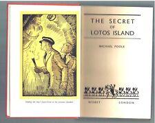 VINTAGE ~ THE SECRET OF LOTOS ISLAND ~ MICHAEL POOLE ~ 1930s UK 1st Ed ~ EX COND