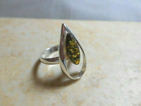 New Genuine Baltic Amber Stone .925 Sterling Silver Ring Size 10