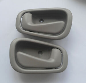 Fit Toyota Corolla Chevy Inside Interior Gray Left Right Side Door Handle 98-02