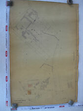 ROMA Mappa Catastale 581 Via Nomentana Lanciani Rasponi Maes Tommasini 1943 c