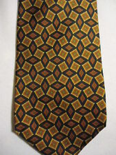 Gap Premium Orange Blue Checker Diamonds Designs Silk Tie 56""