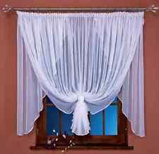 Beau voilage blanc rideau filet Fenêtre Maison Décoration 400 x 150cm 157 x 5