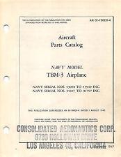 TBM-3 Aircraft Parts Catalog Aircraft Manual WW II Book Flight Manual - CD