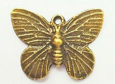 Steampunk Small Butterfly charm, Pack of 10, 15mm x 18mm