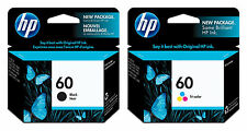 GENUINE NEW HP 60 (CC640WN/CC643WN) Black Color Ink Cartridge 2-Pack