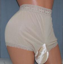 Olga  Tan   Bikini  SISSY POUCH PANTIES Crossdress for Men Sz 28-44 L