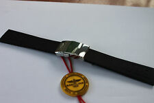 100% Genuine New Breitling Black Diver Pro 3 Rubber deployment Strap 22-20mm