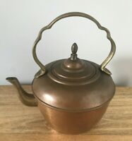 Antique Copper Tea Kettle Brass Handle  Spout made in Israel Abby At9