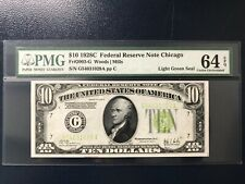 1928C  $10 Federal Reserve Note Fr#2003-G PMG64EPQ&Great Embossing