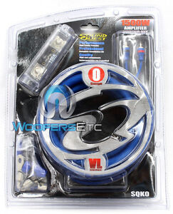 0 GAUGE COMPLETE AMP INSTALL RCA POWER GROUND WIRE AMPLIFIER WIRING KIT NEW O GA