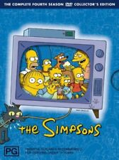 The Simpsons : Season 4 (DVD, 2007, 3-Disc Set) Collectors Edition R4, PAL RARE