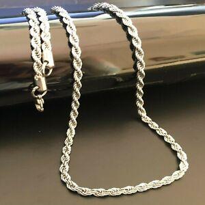 Collana in acciaio inox da uomo catenina spirale girocollo catena 60 cm x 3 mm