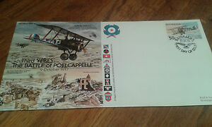 GW44 Great War WWI Third Ypres Battle of Poelcappelle flown cover Bahamas stamp
