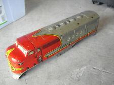 Vintage 1950s O Scale Marx Metal Santa Fe 21 Locomotive Body