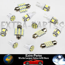 Xenon White 13PCS LED Lights Interior Package T10 & 31mm Map Dome License Plate