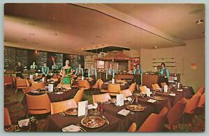 Indianapolis Indiana~The Hearth And Embers Interior View~Vintage Postcard