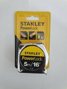 STANLEY 5M POWERLOCK TAPE MEASURES NEW 33-158