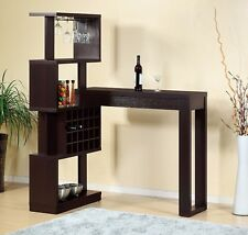 14902 Smart Home Furniture Bartender Wine Bottle Glass Rack Storage Bar Table